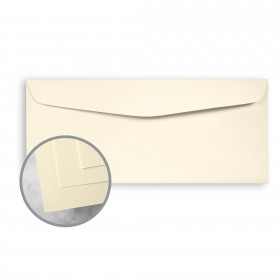 HOWARD Linen Lively Ivory Envelopes - No. 10 Commercial (4 1/8 x 9 1/2) 24 lb Writing Linen  30% Recycled Watermarked 500 per Box