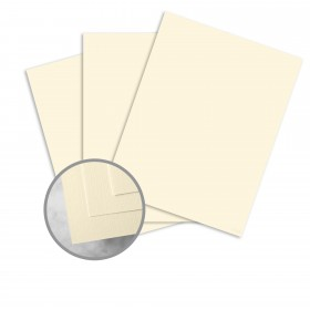 HOWARD Linen Lively Ivory Card Stock - 8 1/2 x 11 in 80 lb Cover Linen  30% Recycled 250 per Package