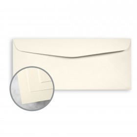 HOWARD Linen Warm White Envelopes - No. 10 Commercial (4 1/8 x 9 1/2) 70 lb Text Linen  30% Recycled 500 per Box