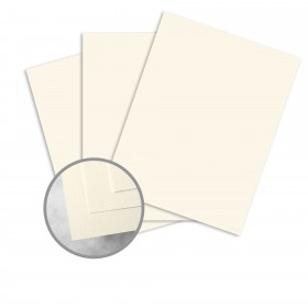 HOWARD Linen Warm White Card Stock - 26 x 40 in 80 lb Cover Linen  30% Recycled 500 per Carton