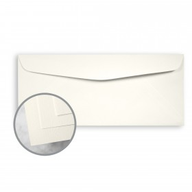 HOWARD Linen White Envelopes - No. 10 Commercial (4 1/8 x 9 1/2) 24 lb Writing Linen  30% Recycled Watermarked 500 per Box