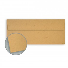 Kraft-Tone Paper Bag Kraft Envelopes - No. 10 Square Flap (4 1/8 x 9 1/2) 70 lb Text Vellum  100% Recycled 500 per Box