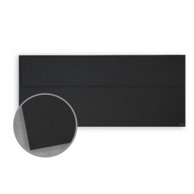 Kraft-Tone Standard Black Kraft Envelopes - No. 10 Square Flap (4 1/8 x 9 1/2) 70 lb Text Vellum  100% Recycled 500 per Box
