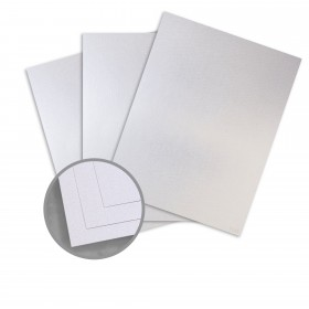Kromekote Jade White Card Stock - 8 1/2 x 11 in 81 lb Cover Linen C/1S 300 per Package