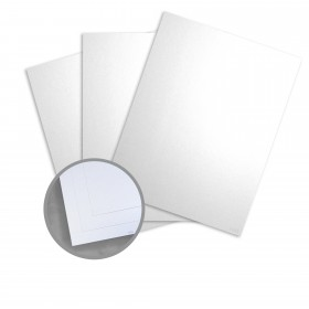 Kromekote Jade White Card Stock - 8 1/2 x 11 in 81 lb Cover Pinweave C/1S 300 per Package