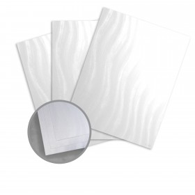 Kromekote Jade White Card Stock - 8 1/2 x 11 in 81 lb Cover Wave C/1S 300 per Package