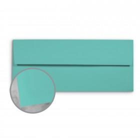 Basis Antique Vellum Aqua Envelopes - No. 10 Commercial (4 1/8 x 9 1/2) 70 lb Text Vellum - 500 per Box