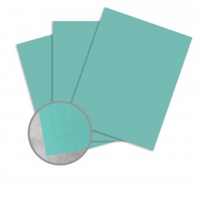 Basis Antique Vellum Aqua Card Stock - 8 1/2 x 11 in 80 lb Cover Vellum 25 per Package