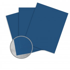 Basis Antique Vellum Blue Card Stock - 8 1/2 x 11 in 80 lb Cover Vellum 25 per Package