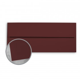 Basis Antique Vellum Burgundy Envelopes - No. 10 Commercial (4 1/8 x 9 1/2) 70 lb Text Vellum - 500 per Box