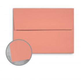 Basis Antique Vellum Coral Envelopes - A9 (5 3/4 x 8 3/4) 70 lb Text Vellum - 250 per Box