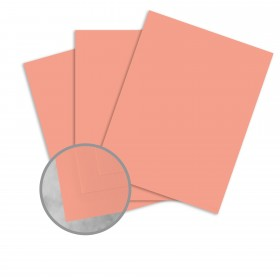 Basis Antique Vellum Coral Card Stock - 8 1/2 x 11 in 80 lb Cover Vellum 100 per Package