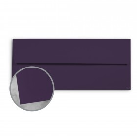 Basis Antique Vellum Dark Purple Envelopes - No. 10 Commercial (4 1/8 x 9 1/2) 70 lb Text Vellum - 500 per Box