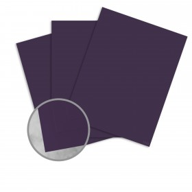 Basis Antique Vellum Dark Purple Card Stock - 8 1/2 x 11 in 80 lb Cover Vellum 100 per Package