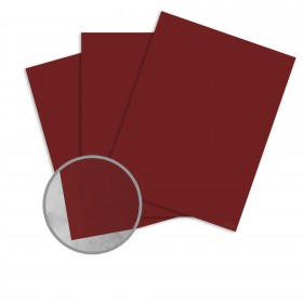 Basis Antique Vellum Dark Red Card Stock - 8 1/2 x 11 in 80 lb Cover Vellum 100 per Package