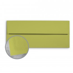 Basis Antique Vellum Golden Green Envelopes - No. 10 Regular (4 1/8 x 9 1/2) 70 lb Text Vellum - 500 per Box