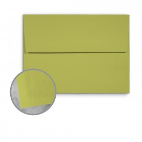 Basis Antique Vellum Golden Green Envelopes - A7 (5 1/4 x 7 1/4) 70 lb Text Vellum - 25 per Box