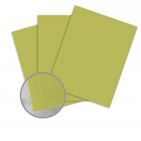 Basis Antique Vellum Golden Green Card Stock - 8 1/2 x 11 in 80 lb Cover Vellum 25 per Package
