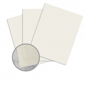 Basis Antique Vellum Ivory Card Stock - 8 1/2 x 11 in 80 lb Cover Vellum 100 per Package