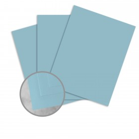 Basis Antique Vellum Light Blue Card Stock - 8 1/2 x 11 in 80 lb Cover Vellum 100 per Package