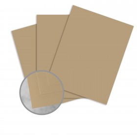 Basis Antique Vellum Light Brown Card Stock - 8 1/2 x 11 in 80 lb Cover Vellum 100 per Package