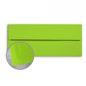 Basis Antique Vellum Light Lime Envelopes - No. 10 Commercial (4 1/8 x 9 1/2) 70 lb Text Vellum - 500 per Box