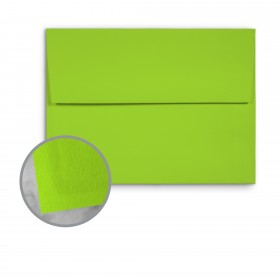 Basis Antique Vellum Light Lime Envelopes - A7 (5 1/4 x 7 1/4) 70 lb Text Vellum - 25 per Box