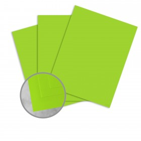 Basis Antique Vellum Light Lime Card Stock - 8 1/2 x 11 in 80 lb Cover Vellum 250 per Package