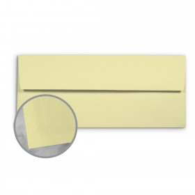 Basis Antique Vellum Light Yellow Envelopes - No. 10 Commercial (4 1/8 x 9 1/2) 70 lb Text Vellum - 500 per Box