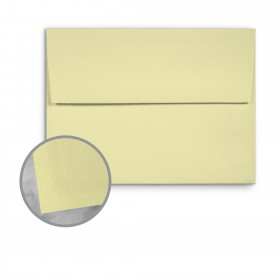 Basis Antique Vellum Light Yellow Envelopes - A7 (5 1/4 x 7 1/4) 70 lb Text Vellum - 25 per Box