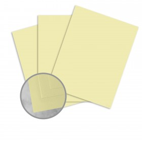 Basis Antique Vellum Light Yellow Card Stock - 8 1/2 x 11 in 80 lb Cover Vellum 100 per Package