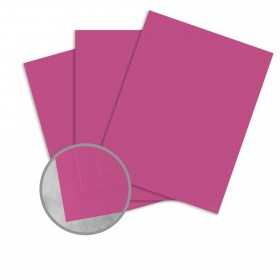 Basis Antique Vellum Magenta Card Stock - 8 1/2 x 11 in 80 lb Cover Vellum 100 per Package