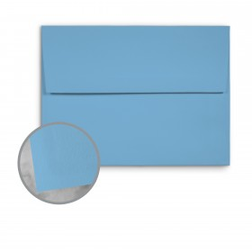 Basis Antique Vellum Medium Blue Envelopes - A7 (5 1/4 x 7 1/4) 70 lb Text Vellum - 250 per Box