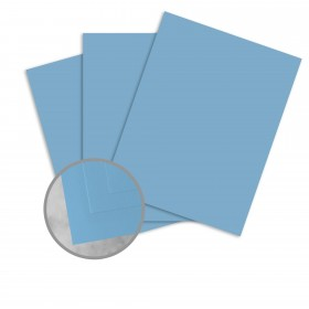 Basis Antique Vellum Medium Blue Card Stock - 8 1/2 x 11 in 80 lb Cover Vellum 100 per Package