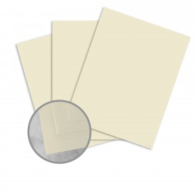 Basis Antique Vellum Natural Card Stock - 8 1/2 x 11 in 80 lb Cover Vellum 25 per Package