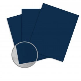 Basis Antique Vellum Navy Card Stock - 8 1/2 x 11 in 80 lb Cover Vellum 100 per Package