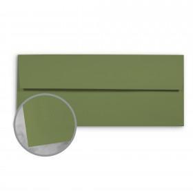 Basis Antique Vellum Olive Envelopes - No. 10 Regular (4 1/8 x 9 1/2) 70 lb Text Vellum - 500 per Box