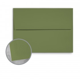 Basis Antique Vellum Olive Envelopes - A1 (3 5/8 x 5 1/8) 70 lb Text Vellum - 250 per Box
