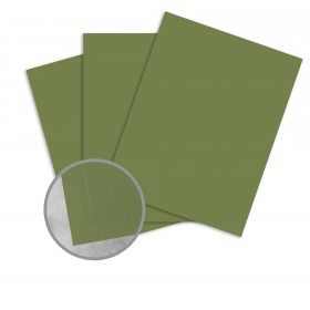 Basis Antique Vellum Olive Card Stock - 8 1/2 x 11 in 80 lb Cover Vellum 25 per Package
