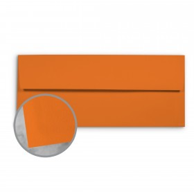 Basis Antique Vellum Orange Envelopes - No. 10 Commercial (4 1/8 x 9 1/2) 70 lb Text Vellum - 25 per Box
