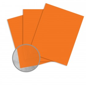 Basis Antique Vellum Orange Card Stock - 8 1/2 x 11 in 80 lb Cover Vellum 100 per Package