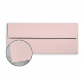Basis Antique Vellum Pink Envelopes - No. 10 Commercial (4 1/8 x 9 1/2) 70 lb Text Vellum - 25 per Box