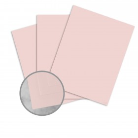 Basis Antique Vellum Pink Card Stock - 8 1/2 x 11 in 80 lb Cover Vellum 25 per Package