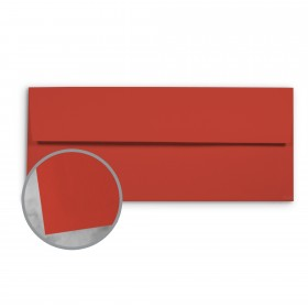 Basis Antique Vellum Red Envelopes - No. 10 Commercial (4 1/8 x 9 1/2) 70 lb Text Vellum - 500 per Box