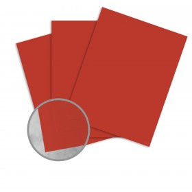 Basis Antique Vellum Red Card Stock - 8 1/2 x 11 in 80 lb Cover Vellum 25 per Package