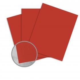 Basis Antique Vellum Red Card Stock - 8 1/2 x 11 in 80 lb Cover Vellum 25 per Package