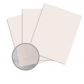 Basis Antique Vellum Soft Pink Card Stock - 8 1/2 x 11 in 80 lb Cover Vellum 100 per Package