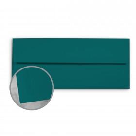 Basis Antique Vellum Teal Envelopes - No. 10 Commercial (4 1/8 x 9 1/2) 70 lb Text Vellum - 500 per Box