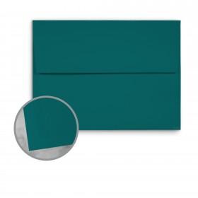 Basis Antique Vellum Teal Envelopes - A9 (5 3/4 x 8 3/4) 70 lb Text Vellum - 25 per Box