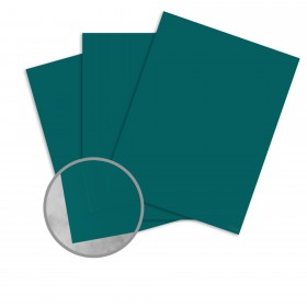 Basis Antique Vellum Teal Card Stock - 8 1/2 x 11 in 80 lb Cover Vellum 25 per Package